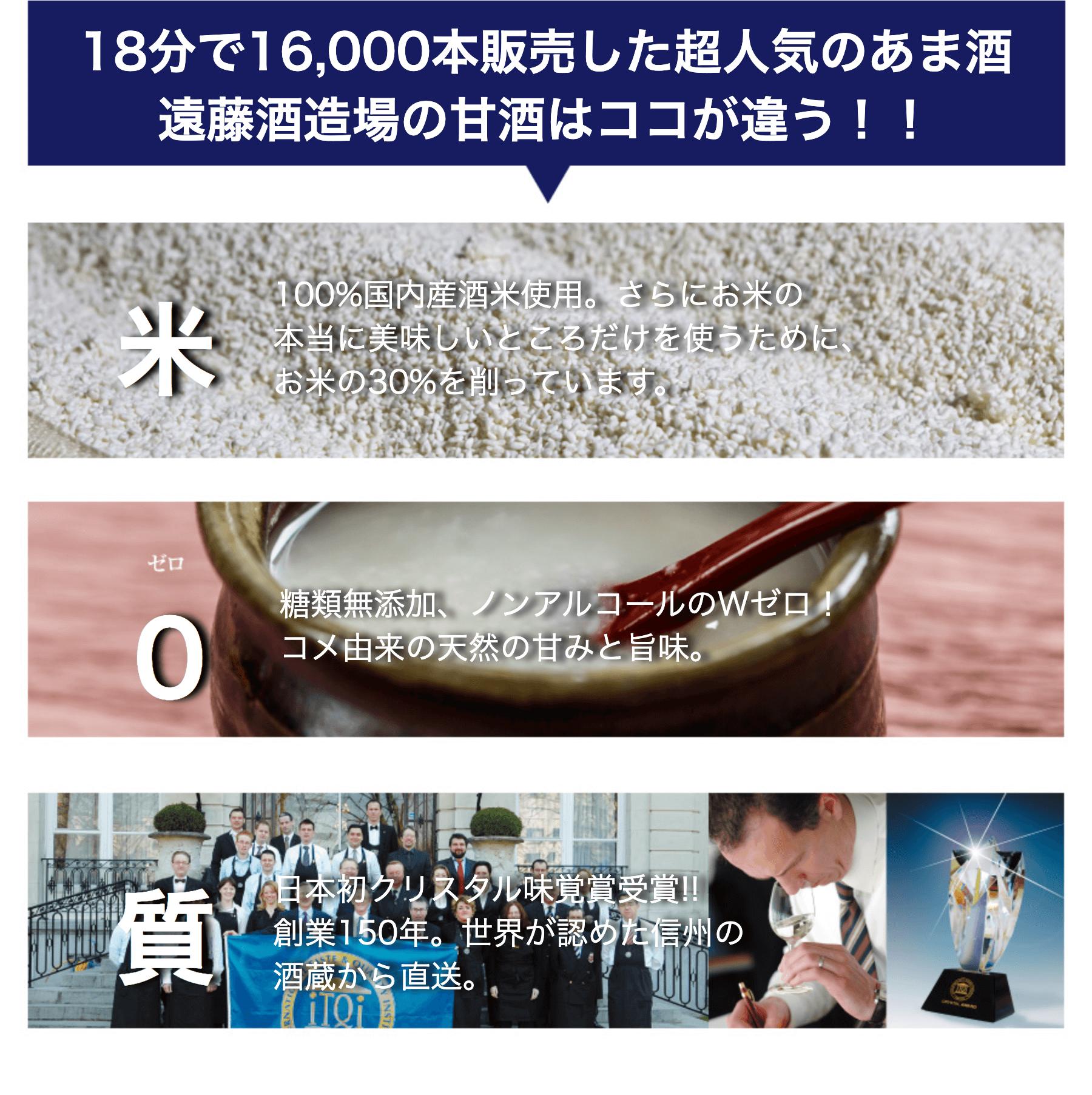 18分で16,000本販売した超人気の甘酒遠藤酒造場の甘酒はここが違う
