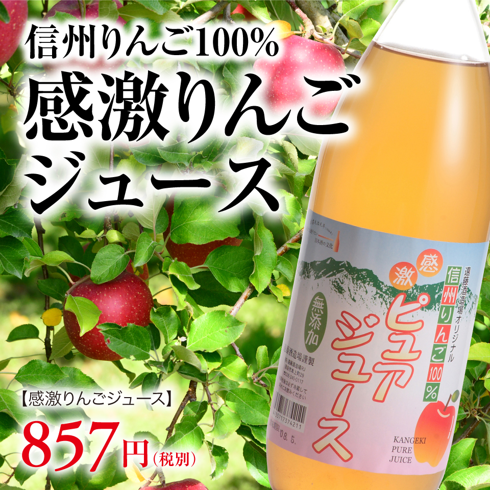 信州りんご100%感激りんごジュース